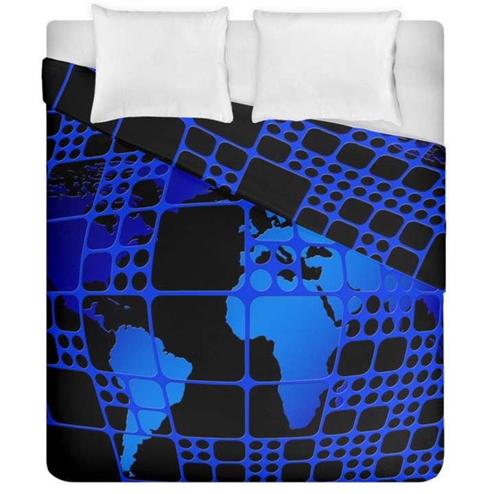 Network Networking Europe Asia Duvet Cover Double Side (California King Size)