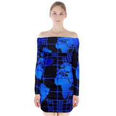 Network Networking Europe Asia Long Sleeve Off Shoulder Dress by Amaryn4rt