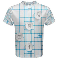 Icon Media Social Network Men s Cotton Tee