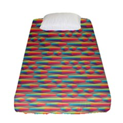 Background Abstract Colorful Fitted Sheet (single Size) by Amaryn4rt