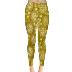 Flower Arrangements Season Gold Classic Winter Leggings