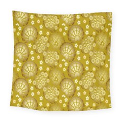 Flower Arrangements Season Gold Square Tapestry (large) by Alisyart