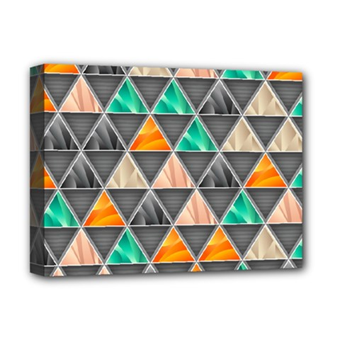 Abstract Geometric Triangle Shape Deluxe Canvas 16  X 12