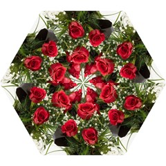 Red Roses Roses Red Flower Love Mini Folding Umbrellas by Amaryn4rt