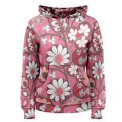 Flower Floral Red Blush Pink Women s Pullover Hoodie