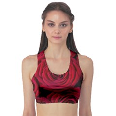 Roses Flowers Red Forest Bloom Sports Bra