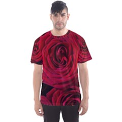 Roses Flowers Red Forest Bloom Men s Sport Mesh Tee