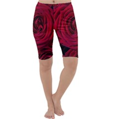 Roses Flowers Red Forest Bloom Cropped Leggings