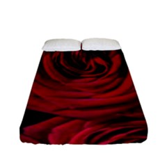 Roses Flowers Red Forest Bloom Fitted Sheet (Full/ Double Size)