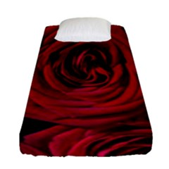 Roses Flowers Red Forest Bloom Fitted Sheet (Single Size)
