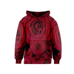 Roses Flowers Red Forest Bloom Kids  Pullover Hoodie