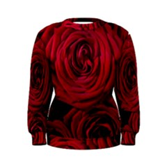 Roses Flowers Red Forest Bloom Women s Sweatshirt
