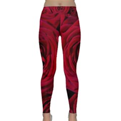Roses Flowers Red Forest Bloom Classic Yoga Leggings