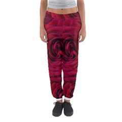 Roses Flowers Red Forest Bloom Women s Jogger Sweatpants