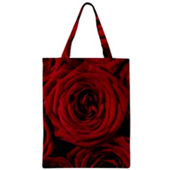 Roses Flowers Red Forest Bloom Zipper Classic Tote Bag