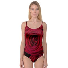 Roses Flowers Red Forest Bloom Camisole Leotard