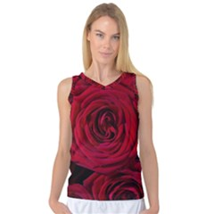 Roses Flowers Red Forest Bloom Women s Basketball Tank Top
