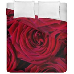 Roses Flowers Red Forest Bloom Duvet Cover Double Side (california King Size)