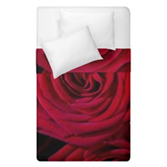 Roses Flowers Red Forest Bloom Duvet Cover Double Side (Single Size)