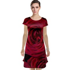 Roses Flowers Red Forest Bloom Cap Sleeve Nightdress