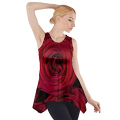 Roses Flowers Red Forest Bloom Side Drop Tank Tunic