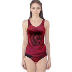 Roses Flowers Red Forest Bloom One Piece Swimsuit