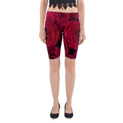 Roses Flowers Red Forest Bloom Yoga Cropped Leggings