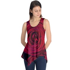 Roses Flowers Red Forest Bloom Sleeveless Tunic