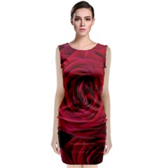 Roses Flowers Red Forest Bloom Classic Sleeveless Midi Dress