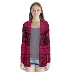 Roses Flowers Red Forest Bloom Cardigans