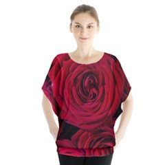 Roses Flowers Red Forest Bloom Blouse