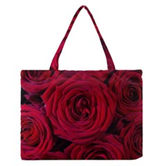 Roses Flowers Red Forest Bloom Medium Zipper Tote Bag