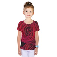 Roses Flowers Red Forest Bloom Kids  One Piece Tee