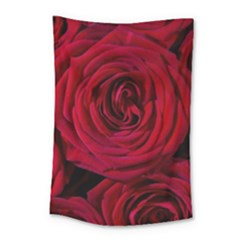 Roses Flowers Red Forest Bloom Small Tapestry