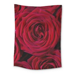 Roses Flowers Red Forest Bloom Medium Tapestry