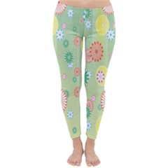 Flower Arrangements Season Pink Yellow Red Rose Sunflower Classic Winter Leggings