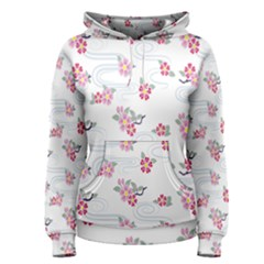 Flower Arrangements Season Sunflower Pink Red Waves Grey Women s Pullover Hoodie
