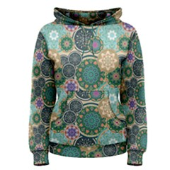 Flower Sunflower Floral Circle Star Color Purple Blue Women s Pullover Hoodie