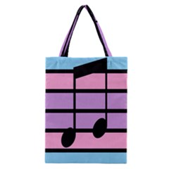 Music Gender Pride Note Flag Blue Pink Purple Classic Tote Bag