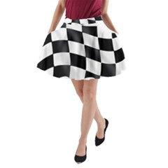 Flag Chess Corse Race Auto Road A Line Pocket Skirt by Amaryn4rt