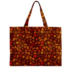 Pattern Background Ethnic Tribal Zipper Mini Tote Bag by Amaryn4rt