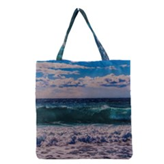 Wave Foam Spray Sea Water Nature Grocery Tote Bag by Amaryn4rt