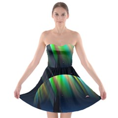 Planets In Space Stars Strapless Bra Top Dress by Amaryn4rt