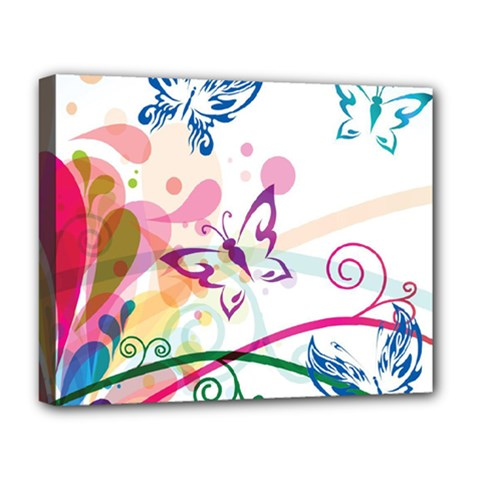 Butterfly Vector Art Deluxe Canvas 20  X 16