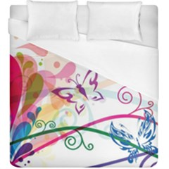 Butterfly Vector Art Duvet Cover (king Size) by Amaryn4rt