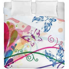 Butterfly Vector Art Duvet Cover Double Side (king Size) by Amaryn4rt