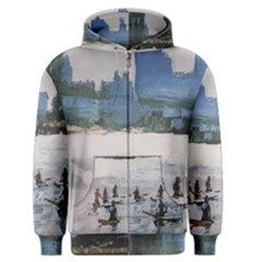 Brooklyn Bridge East River Sup Nyc Surfers Zipper Hoodie