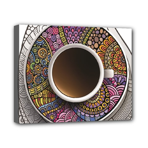 Ethnic Pattern Ornaments And Coffee Cups Vector Canvas 10  X 8  by Amaryn4rt