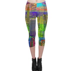 New York City Skyline Capri Leggings