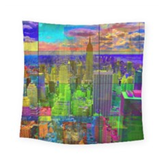 New York City Skyline Square Tapestry (small)